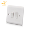 10A 2 gang 1 way wall electric lighting switch