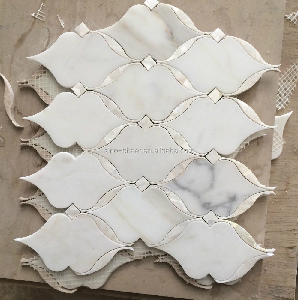 Natural Marble Flower Water Jet Mosaic Tile Pattern Product On Alibaba