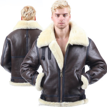 2019 original 100% satisfaction new release B3 Shearling Leather Jacket Bomber Fur Aviation Air Military Us Force Men  Women Pilot The Most Warm Polar Coat World Ii Flyin - Buy Shearling Leather  ...