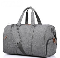 Hot sale foldable travel waterproof duffel sports gym bag with shoe compartment