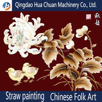 House decoration dedicated used oil paing straw painting