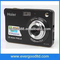 New arrive Haier 2.7 inch TFT Screen Digital Camera DC-K30 with 12MP and 4X Digital Zoom