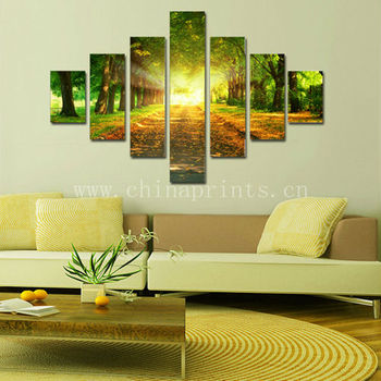 Hanging Frameless Canvas Art/forest Stretched Canvas Printing ...