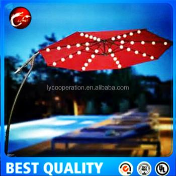 Leisure Ways Outdoor Umbrella Light,solar Power Charge Patio Umbrella