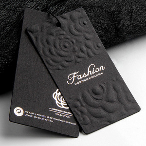 luxury thick black hot stamping paper garment hang tags