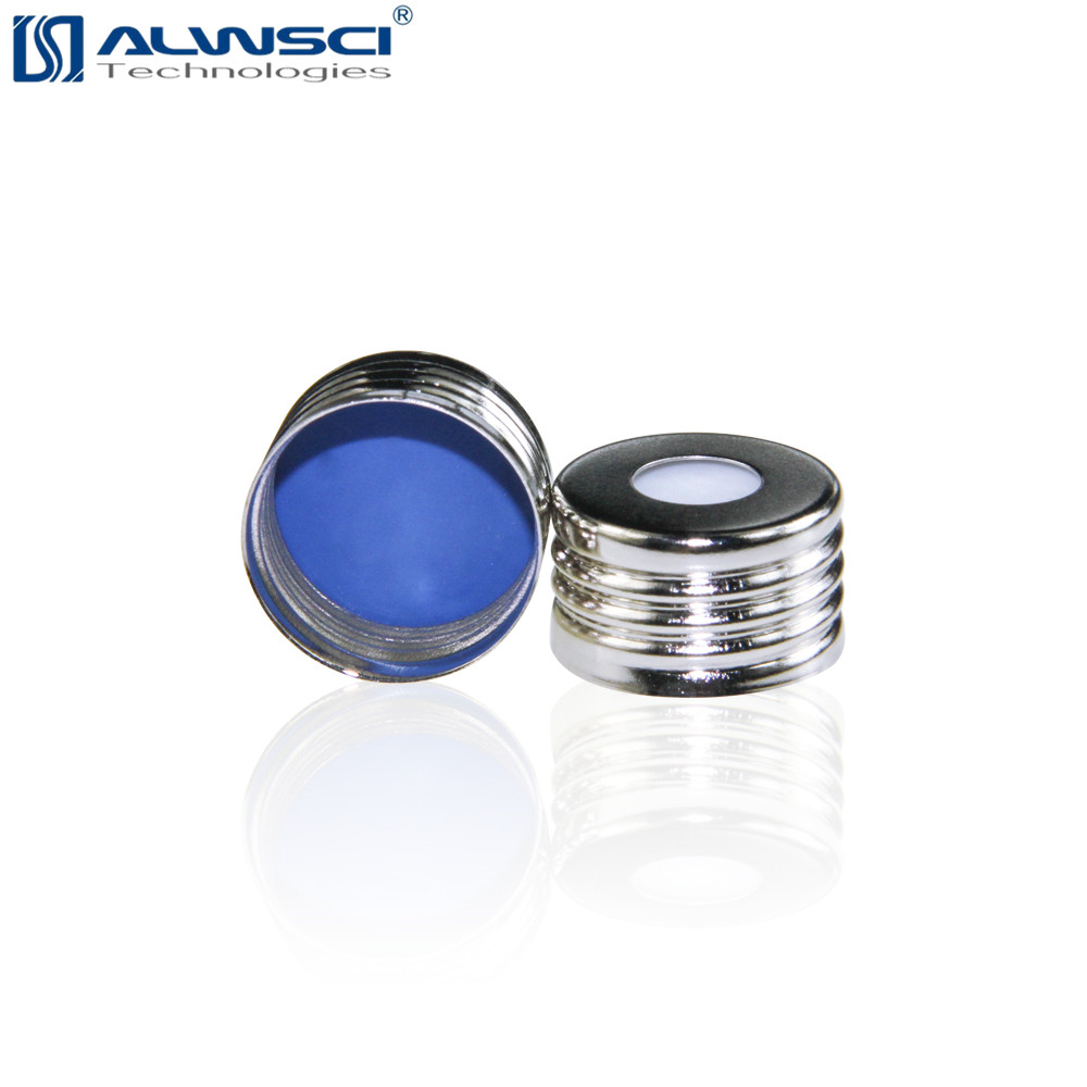 ALWSCI 18mm Zilveren Open Top Metal aluminium Schroef caps