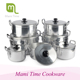 African style 5pcs happy lady s/s casserole set cooking pot