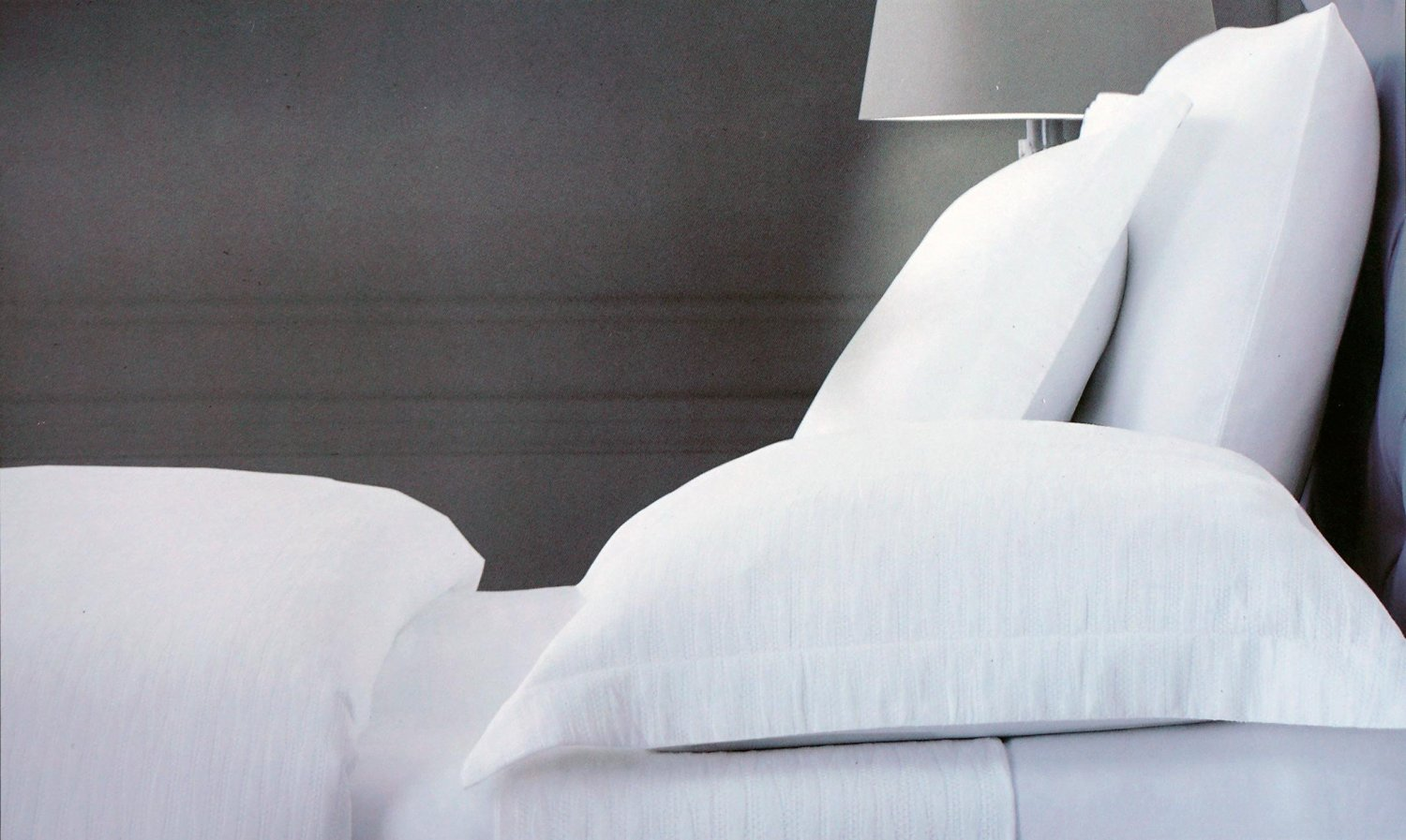 Nicole Miller Luxurious Designer Bedding 3 Piece Cotton Duvet Cover Set Solid White With A Textured