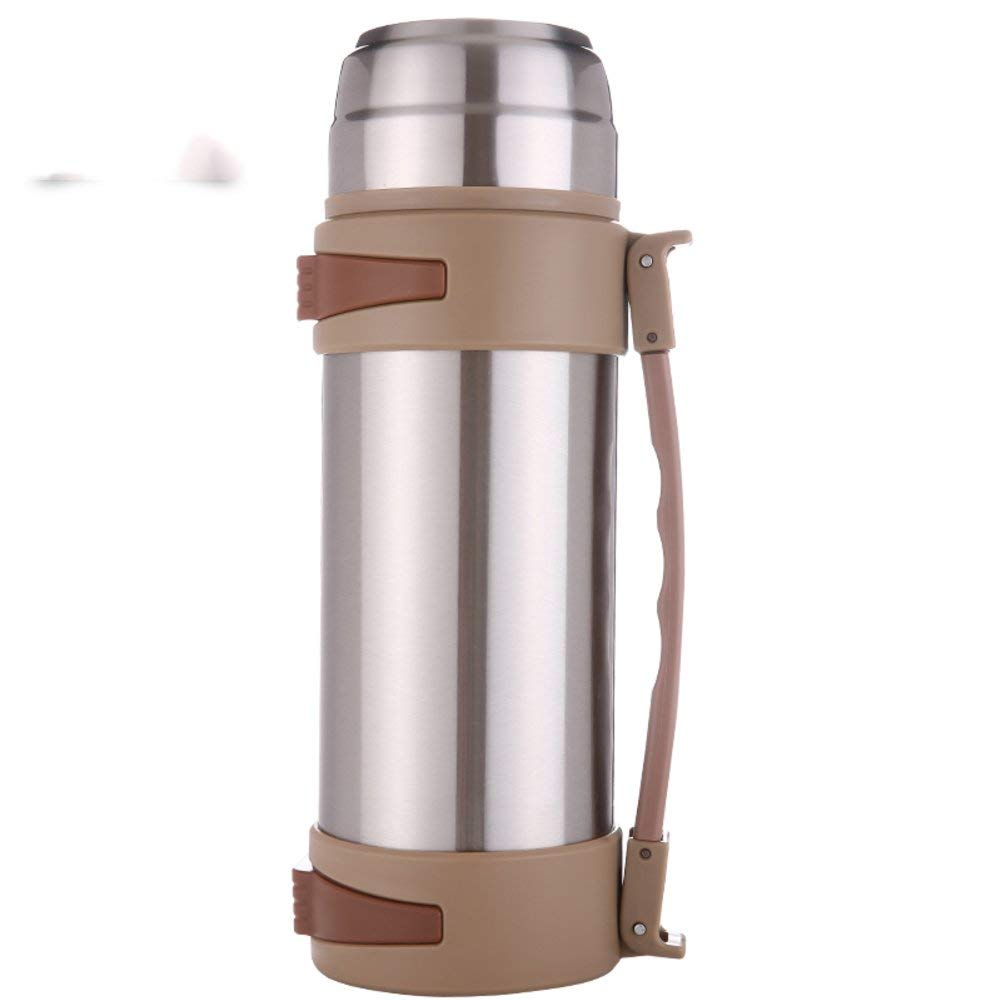 European simple vacuum flask Insulation pot Outdoor Tourism vacuum flask Stainless steel Large capacity insulation pot Car hot water bottle [kettle] Warm kettle bottle-B 11.3x33.8cm(4x13inch)