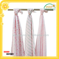 custom 100% cotton baby muslin swaddle blanket woven throw