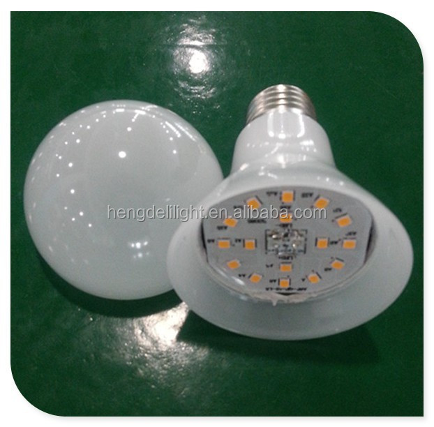2015 hot new products A65 plastic cover led bulb <strong>e27</strong>