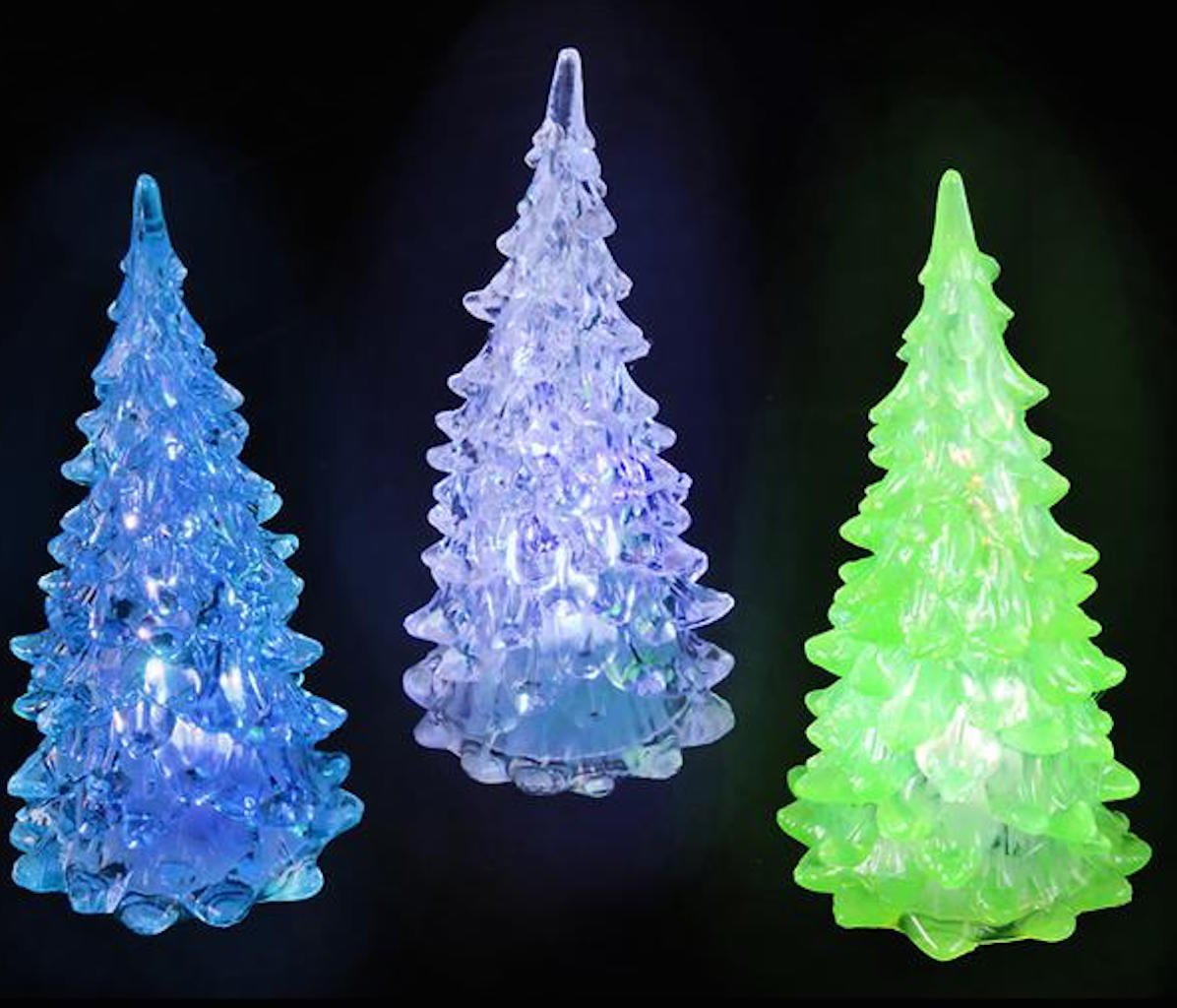 get quotations set of 6 mini light up crystal like christmas trees - Christmas Light Balls For Trees
