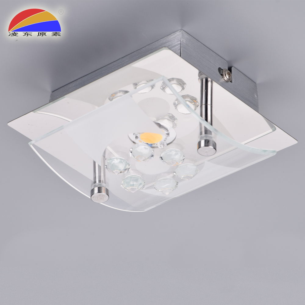 LED COB 5W glass ceiling lamp with glass lampshade