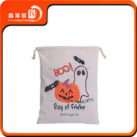 Custom drawstring non woven bag for Halloween and Thanksgiving