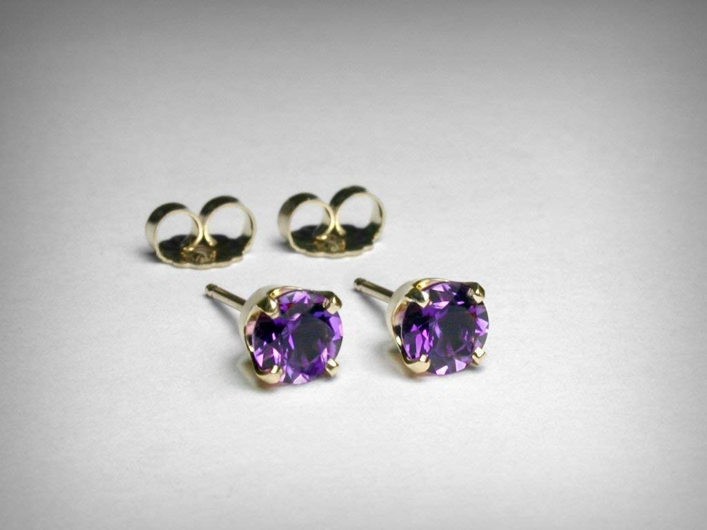 Fine Earrings Buy Cheap Amethyst And Blue Toapz 925 Sterling Silver Gold Vermeil Earrings Orders Are Welcome.