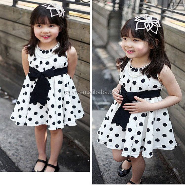 9d1dcced5582 Fashion Design Small Girls Dress Girls Polka Dot Dresses For Girls of 10  Year Old
