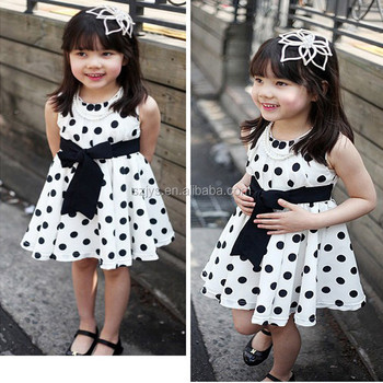 0cff5ecd9 Fashion Design Small Girls Dress Girls Polka Dot Dresses For Girls ...