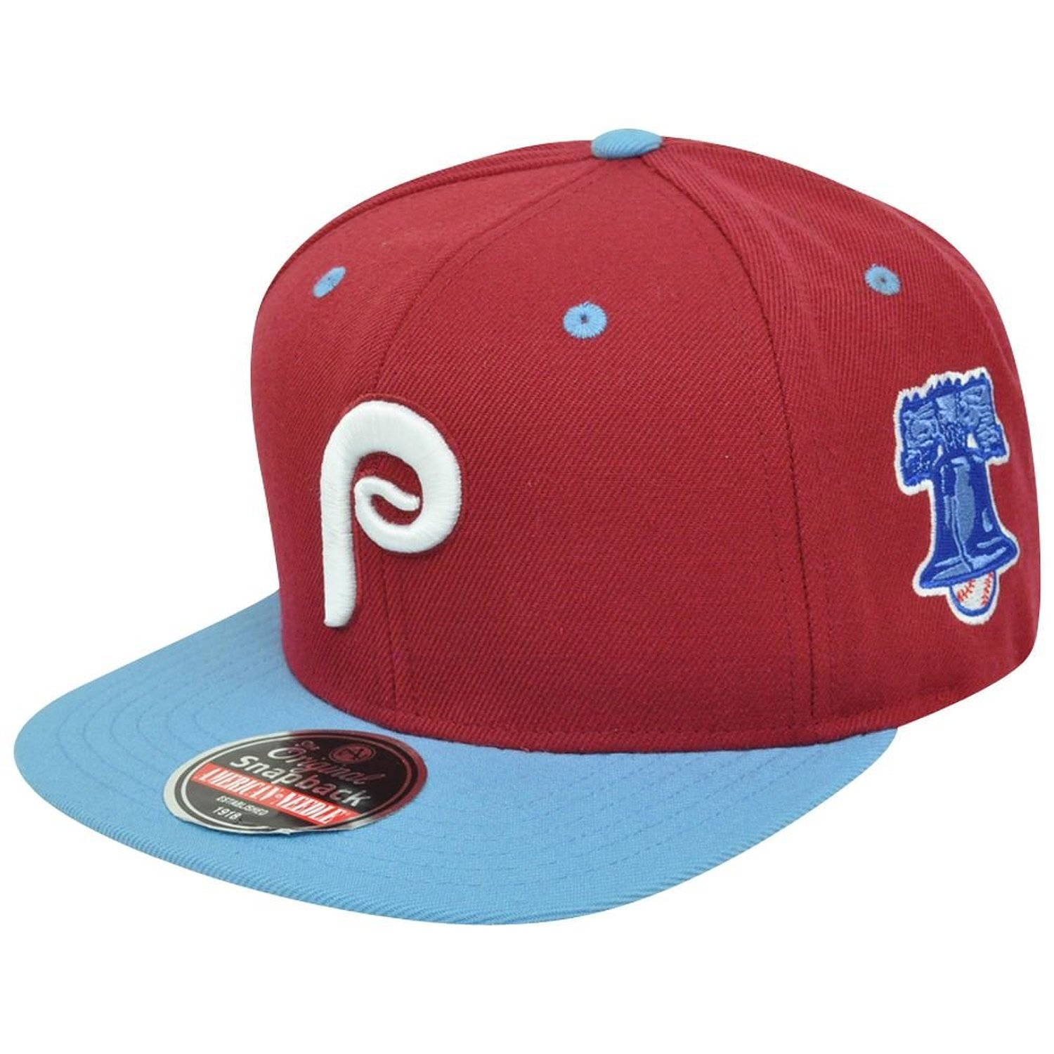 Get Quotations · American Needle Blockhead Philadelphia Phillies Snapback  Hat Maroon 66a6a0f31144