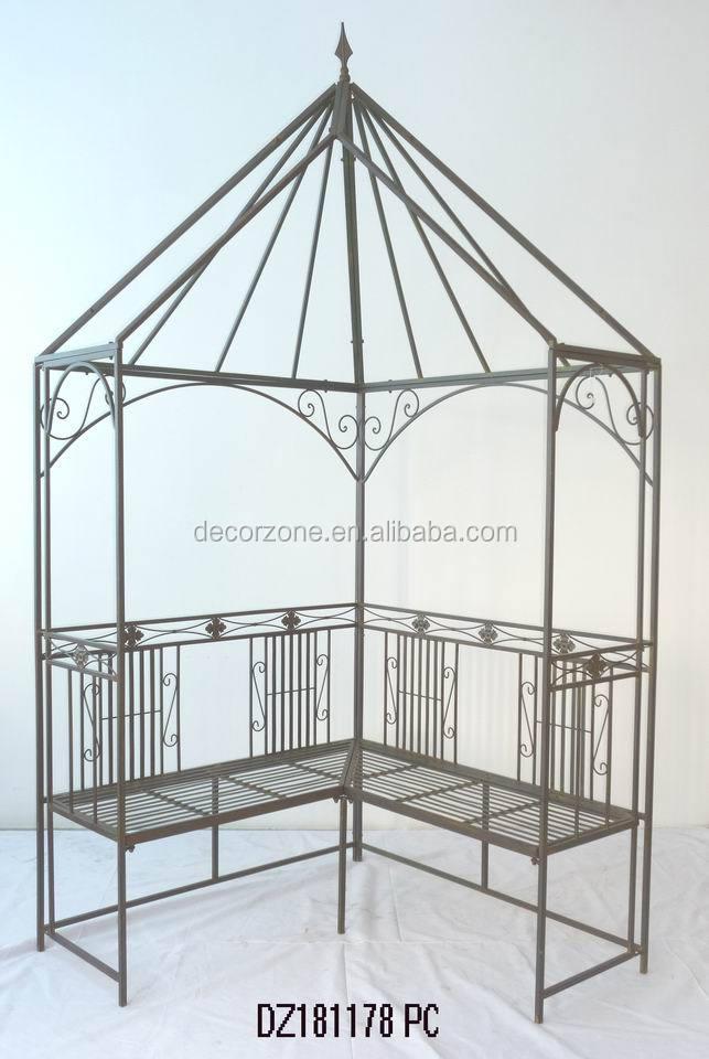 Decoratieve metalen tuin prieel met bank bogen pergola 39 s pergola 39 s en brug product id - Prieel ijzer ...