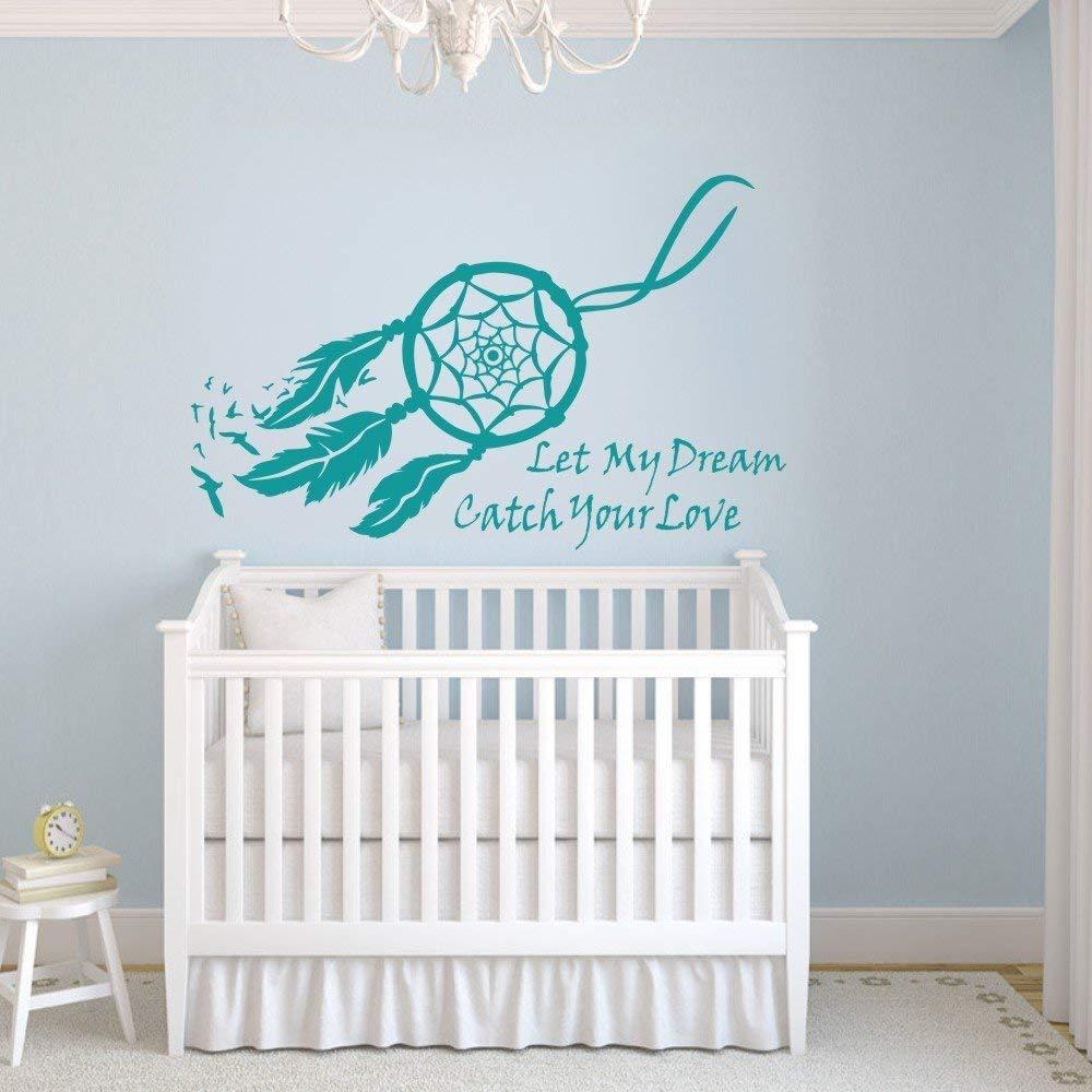 Dream Catcher Wall Decal Vinyl Sticker Baby Nursery Decor Mural Bedroom Art Teal