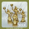 Gold furnishings polyresin egyptian statues