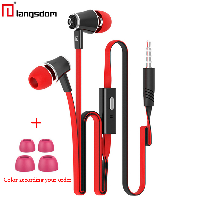Original Langsdom JM21 Stereo Earphones With Microphone Super Bass 3.5mm In-Ear