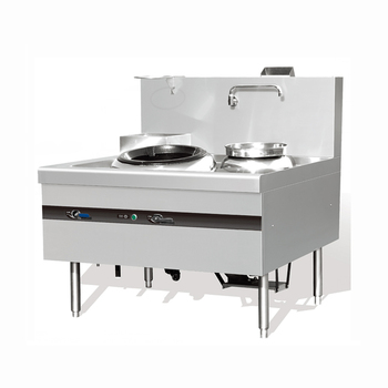 Commercial Gas Wok Stove With Single Burner And Single Warmer