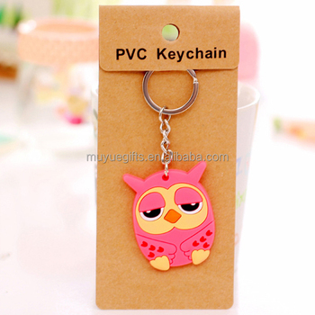 2017 NEW Custom 2D or 3D soft PVC keychains for promotion