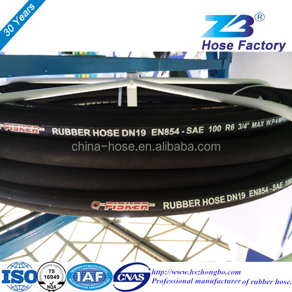 Fiber-reinforced rubber hose SAE 100 R6 in hengshui, China