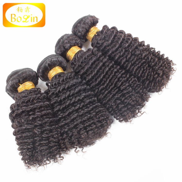 Malaysian kinky curly hair bundles wholesale cheap price natural color hair extension