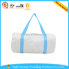 white washable travel duffle bag for kids