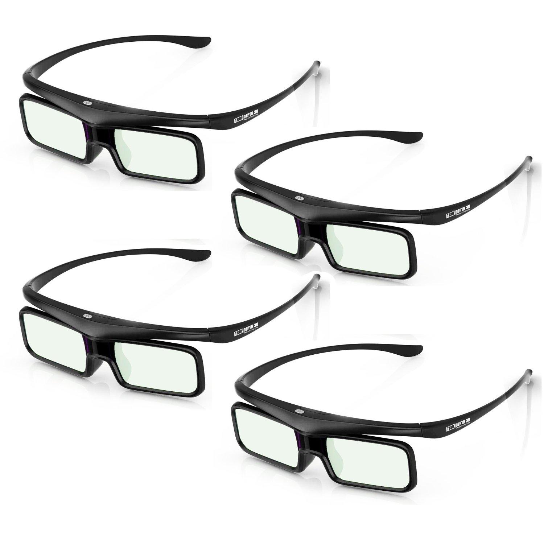 True Depth 3D® Firestorm BT Glasses for Bluetooth Panasonic 3D TVs (2012-2013 and Beyond) 4 Pairs!