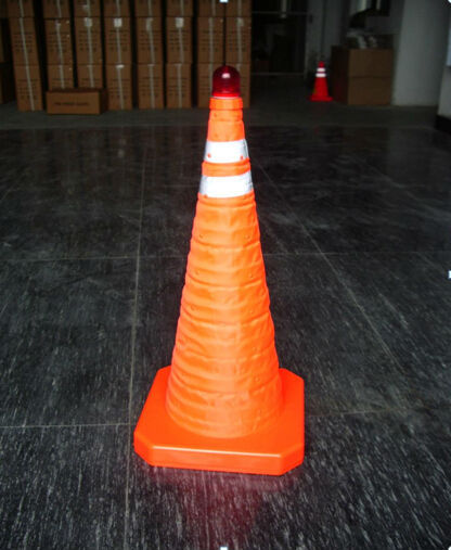 Glow in the dark road barriers Highway Orange collapsible safety cones