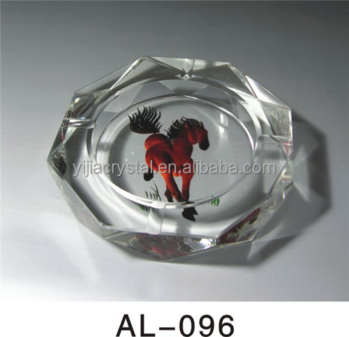 Fancy crystal glass decoration crystal animal ashtray