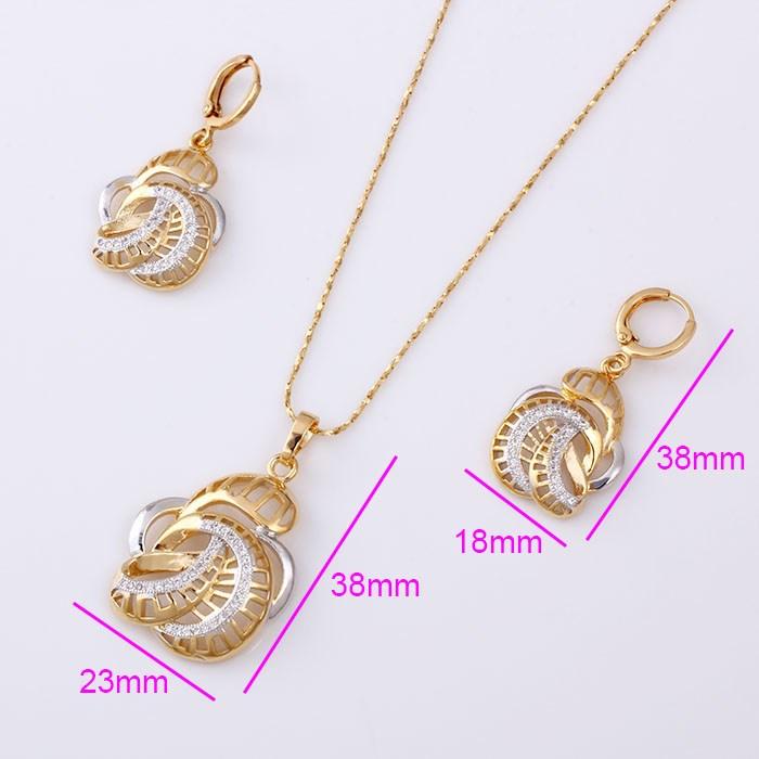 61501 Beautiful Dubai Gold Plated Jewelry Set / Wedding Jewellery ...