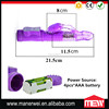 Pink Purple Color Separate Speed & Rotation Controls Waterproof 7 Speed Vagina Wireless G-Spot Vibrator