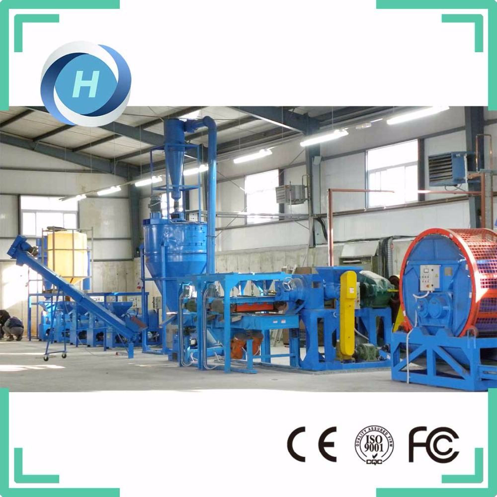 Low Cost Waste Tire Recycling Rubber Powder Machine