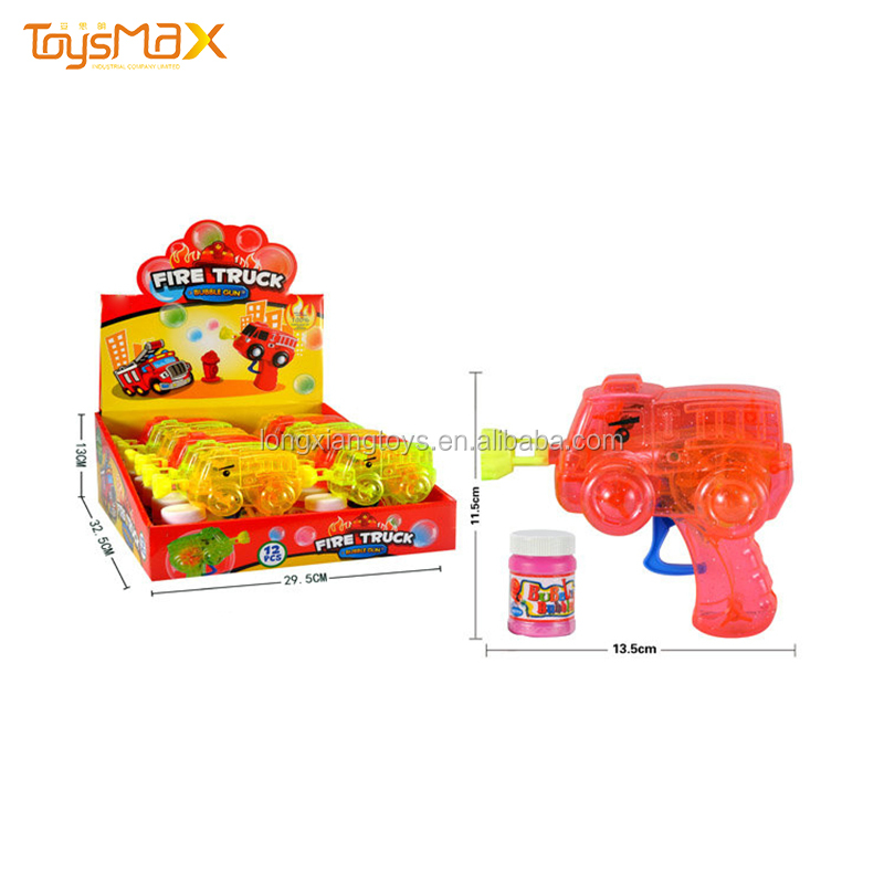 Inertial Transparent Bubble Water Gun Toy  Fire Truck Light Up Bubble Gun Machine Toys  With Light
