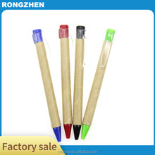 high quality eco friendly gift promational paper pen with custom logo