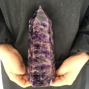 Wholesale Natural Gemstone Large Crystal Point Healing Amethyst Crystal Tibetan Wands