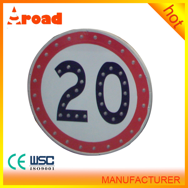 Fine workmanship Solar LED Traffic Sign Board Speed-Limit and folding traffic signs