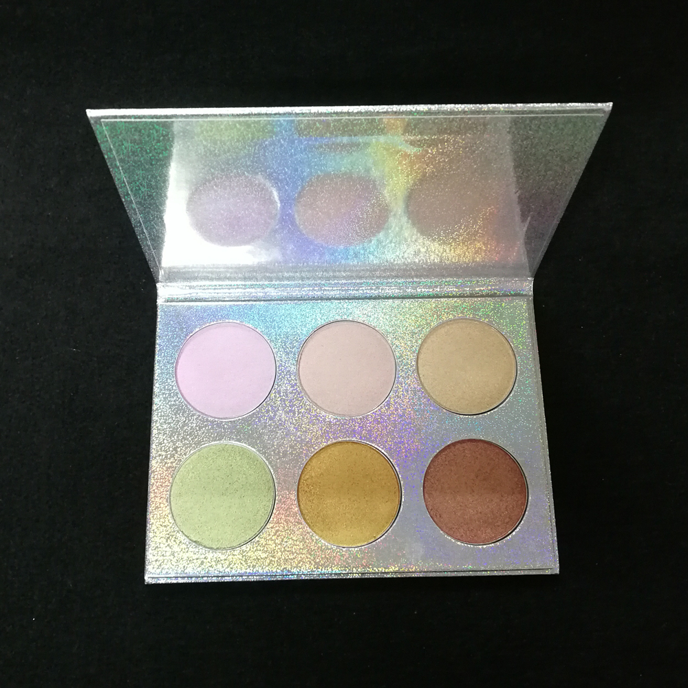 Private Label Factory Supply highlighter palette 6 Colors Makeup Pressed Highlighter Face Powder Palette фото