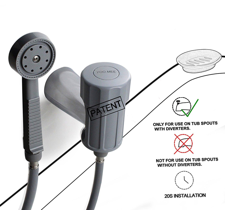 Buy YOO.MEE Plus Tub Spray on Existing Tub Spout W/ Diverter ...