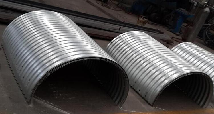Half Circle Galvanized Corrugated Steel Pipe Road Culvert