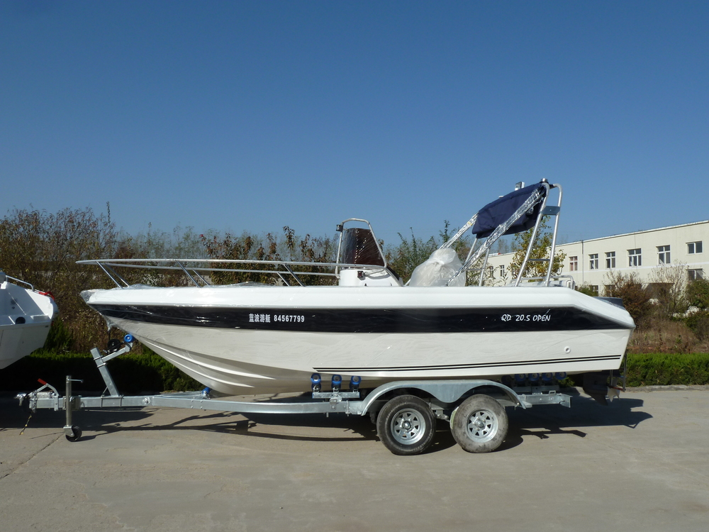 Waterwish qd 20 5 open speed motor boat buy 6 m frp for Small motor boat for sale