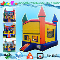 regular commercial bouncing inflatable castle with replaceable banner