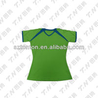 Top quality green color dry fit tee-shirts