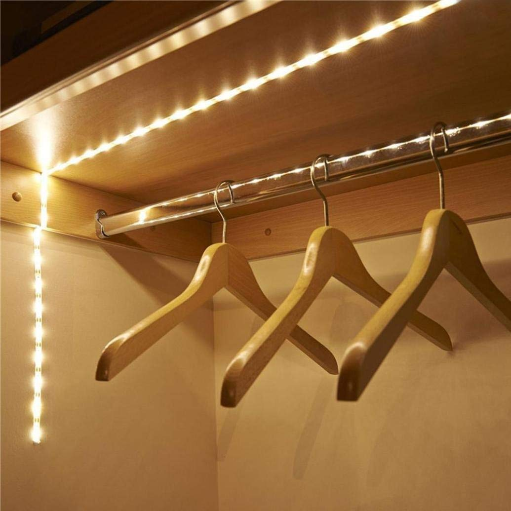 Kanzd Battery Operated 1M LED Strip Light Wireless PIR Motion Sensor Wardrobe Cabinet