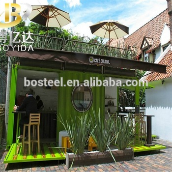 Two Storey Wooden House Structural Design Of Small Cafe Container