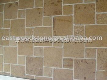 Roman Pattern Beige Limestone Wall Tile